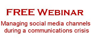 Free Webinar: Managing social media channels during a communications crisis