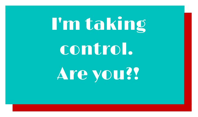 I'm taking control are you