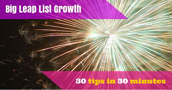 FREE Webinar! Big Leap List Growth – this Thursday!