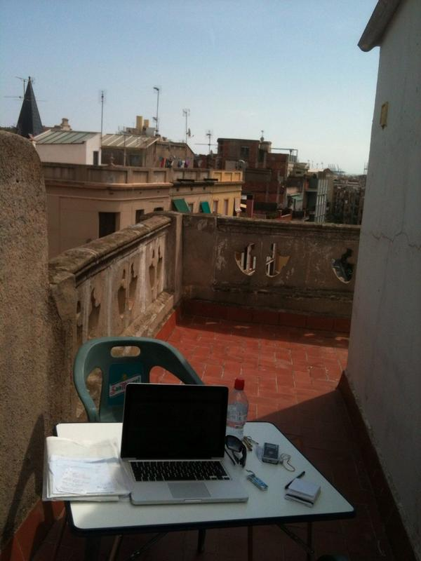 My Barcelona rooftop office