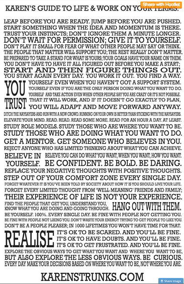 My manifesto for business & life on your terms!