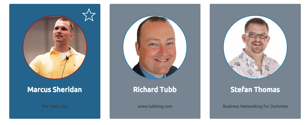 The Content Marketing Academy speakers marcus sheridan richard tubb stefan thomas