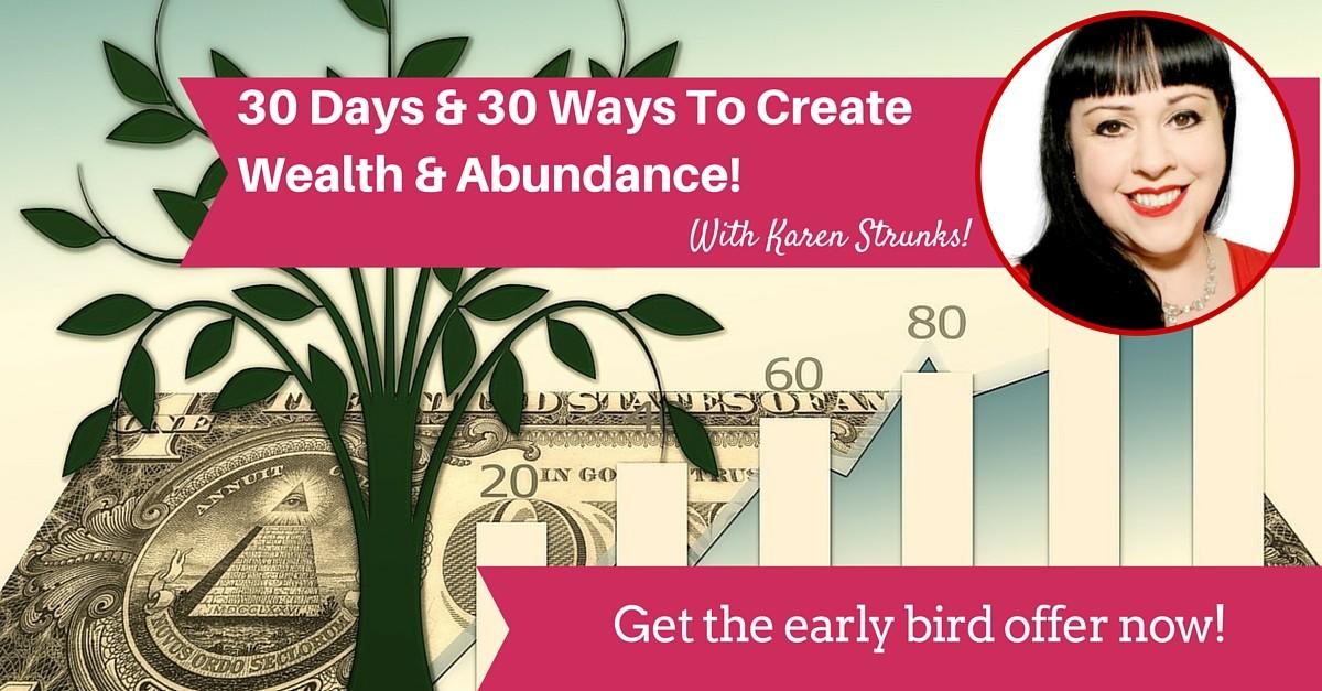 30 days & 30 ways to wealth & abundance