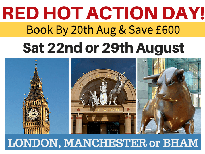 red hot action day london, manchester, birmingha