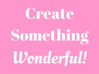 Create Something Wonderful
