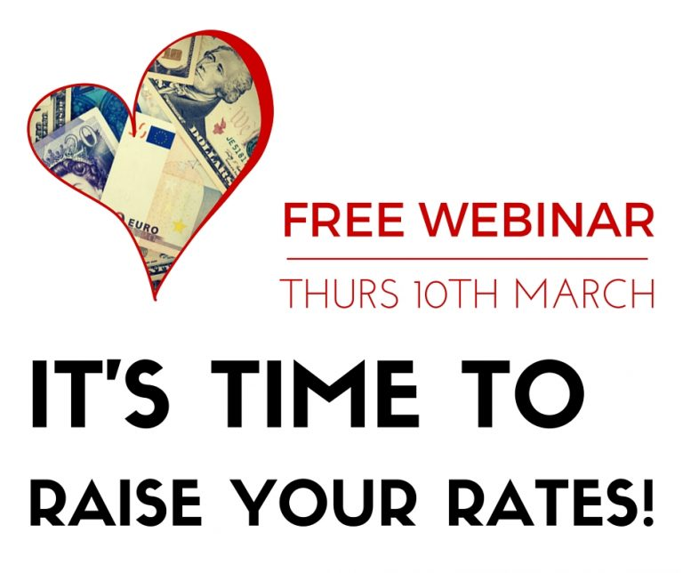 NEW! Free training – Cash Confidence – it's time to raise your rates!