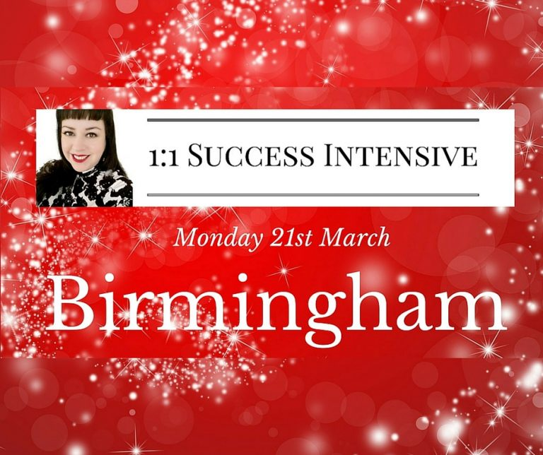 1:1 Success Intensive Birmingham Monday 21st March!