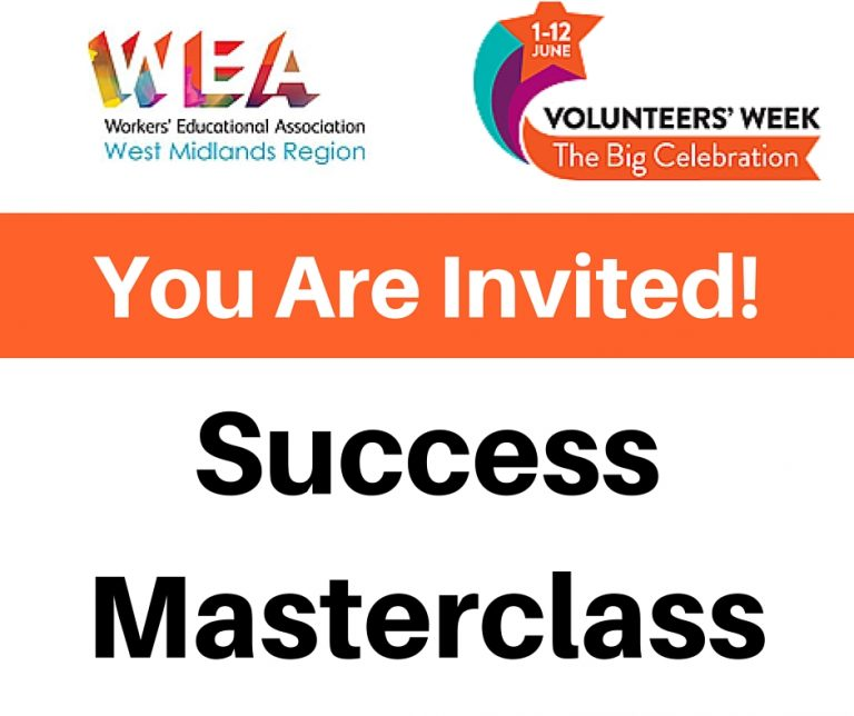 Invitation to my success masterclass. Birmingham. 10th June.