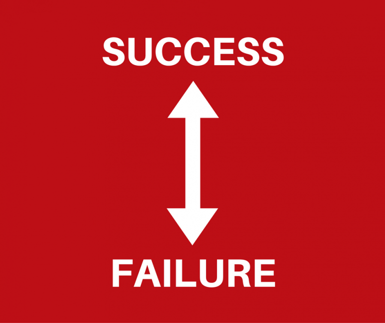 What's in the gap between success and failure